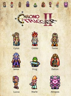 Chrono Trigger Pixel Artby thehookshot
