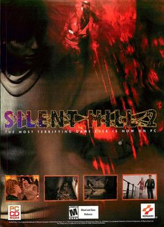 Ad for the PC version of Silent Hill Silent Hill Series, Silent Hill 2, Retro Ads, Advertising Poster, Horror, Posters, Ps4 Games, Consoles, Arcade