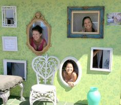 We made our own photo booth wall and debuted it at our outdoor market yesterday - vendors and shoppers all had fun striking a pose! Party Photo Frame, Photo Booths, Party Props, Party Ideas, Event Ideas, Wedding Activities, Trunk Or Treat, Mad Hatter Tea