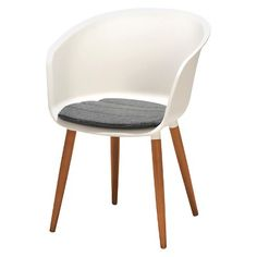 2pk Outdoor Resin Patio Chair with Cushion - White : Target