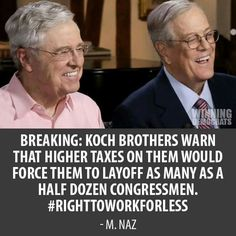 """When you look at the amounts given to Congress, you might be surprised to learn that the Koch's can buy a member of Congress's vote for as little as a $4,000 """"campaign contribution"""".   We can pool our lunch money and buy a few members of Congress ourselves."""