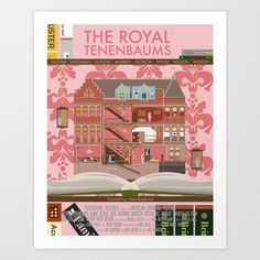 "The Royal Tenenbaums by Alan Segama 17"" x 21"" / $26 / Society6"