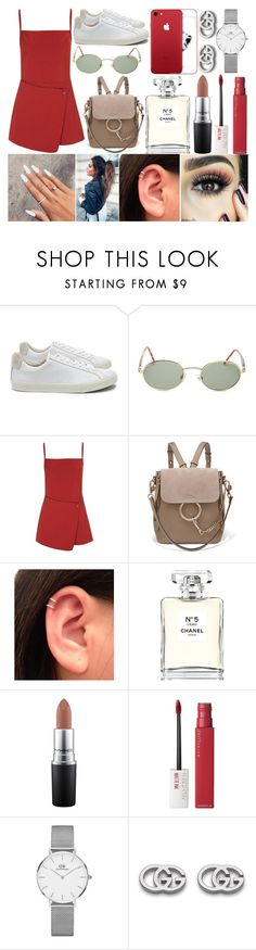 """Summer Lovin'"" by susanna-trad ❤ liked on Polyvore featuring Veja, Forever 21, Opening Ceremony, Chloé, BHCosmetics, Chanel, MAC Cosmetics, Maybelline, Daniel Wellington and Gucci"