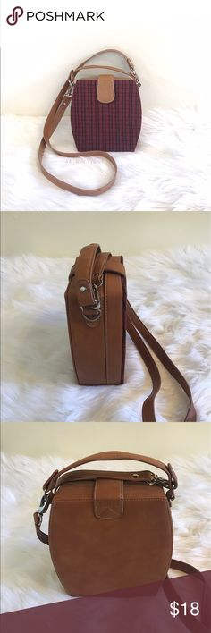 "Asos crossbody box purse Gently used. One stain damage shown on photo. Other than that in great condition new condition inside the purse. Model on last photo is 5'2"". ❌trade ❌hold ✅bundle and save 10% ASOS Bags Crossbody Bags"