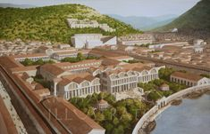 Ephesus, The Harbor Baths and Inner Harbor, century AD - Archaeology Illustrated Ancient Egyptian Art, Ancient Aliens, Ancient Rome, Ancient Greece, Ancient History, European History, American History, Byzantine Architecture, Ancient Greek Architecture