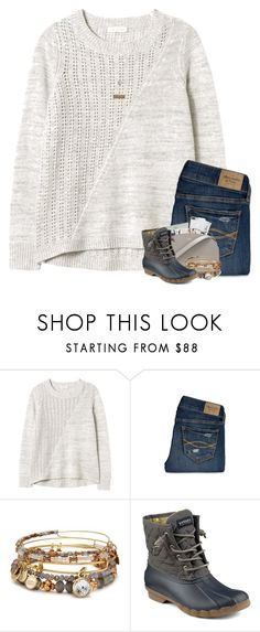 """""""you make it easy"""" by worthyofgrace ❤ liked on Polyvore featuring Rebecca Taylor, Abercrombie & Fitch, Alex and Ani, Sperry and A Weathered Penny"""