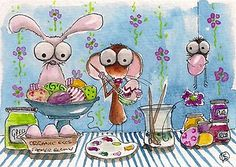 Painting Easter eggs...