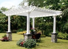 rock deck support columns   Need help with pergola on raised paver deck..