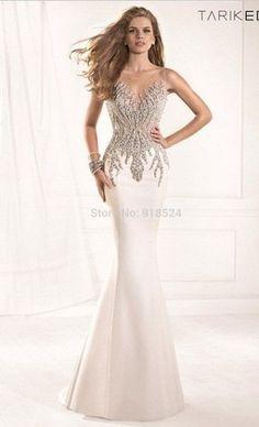 vestido sereia com brilhantes formatura eventos casamentos