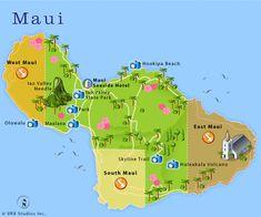 Maui Attractions Map Maui Hawaii Diving Map Maui Hawaii