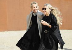 editor-in-chief of Vogue Italia, Franca Sozzani (right), and her sister Carla (left), owner of the shop/gallery/restaurant in Milan, 10 Corso Como