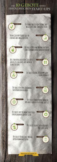Infografik: 10 Gebote eines erfolgreichen Start-ups