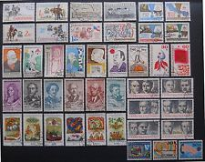 Czechoslovakia 10 sets of cto stamps 1957-1979