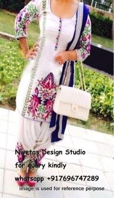 get it @Nivetas Design Studio Design Studio for purchase query kindly whatsapp +917696747289 . we can make any color combination we ship all over the world #punjabi #patiala #salwar #suit #boutique #dupatta #india #punjabi #fashion #salwar_kameez www.facebook.com/...