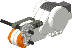 Nice example of how to add gears to an axle Lego Nxt, Lego Robot, Lego Toys, Robots, Lego Mindstorms, Lego Technic, Lego Gears, Lego Engineering, Stem Robotics