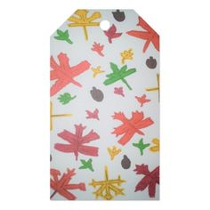 Autumn Leaves Pattern Gift Tags