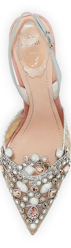 Wedding Shoes // Bridal Shoes // Rene Caovilla - love this delicate colour combo ! Bridal Shoes, Wedding Shoes, Bling Wedding, Cute Shoes, Me Too Shoes, Pretty Shoes, Rene Caovilla, Crazy Shoes, Beautiful Shoes