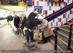 What random act of kindness have you witnessed today?