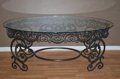 Wrought Iron Ornamental Coffee Table by METALMASTERSINC on Etsy