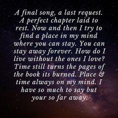 Lyrics by Avenge Sevenfold: So Far Away So Far Away Lyrics, Avenged Sevenfold Quotes, Heavy Metal Songs, Love Time, Senior Quotes, Dark Paradise, No One Loves Me, Slipknot