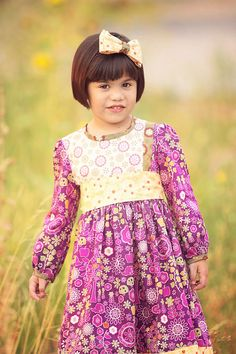 Vintage Fall Handmade Dress for Little Girls by Pink by pinkmouse, $49.00