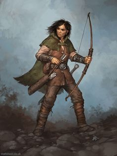 Ranger from 'The Fantasy Artist's Figure Drawing Bible' by Matt Dixon