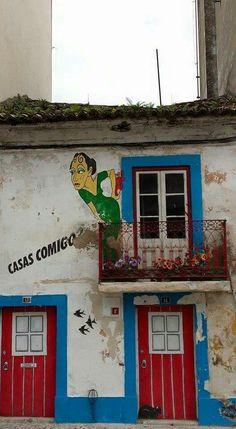 Beco da Paixão Assolapada, em Alcobaça