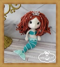 Crochet Pattern pattern tutorial Amigurumi doll Mermaid