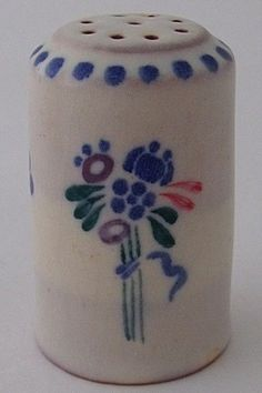 Attractive Early Poole Pottery Pepper Pot - Art Deco