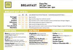 Mici Italian breakfast menu design by Watermark! #watermark #watermarkadvertising #menu #breakfastmenu #restaurantmenudesign #restaurantmenu #graphicdesign #marketingdesign #italianfood #italianrestaurant #restaurantpromos #restaurantmarketing #marketing #advertising