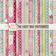 Me Likey You! {patterned} - 20% off! by Joyful Heart Designs on @creativemarket
