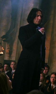 """2002 -- Alan Rickman as Professor Severus Snape in """"Harry Potter and the Chamber of Secrets."""" This is photo is from the dueling club scene."""
