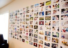 Wall of pictures! Great idea for all the wedding pictures!