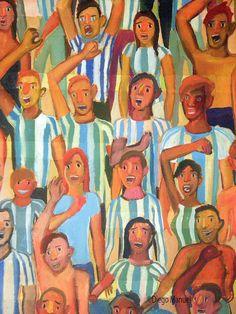 Gran Tribuna , acrylic on canvas, 130 x 95 cm, 2014