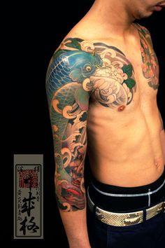 Koi - Yellowblaze tattoo studio by Shige