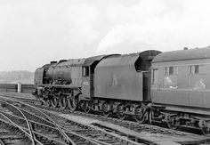 46228 'Duchess of Rutland' leaves Stockport for Manchester, 1957.