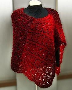 Receita de Tricô: Poncho em trico - receita
