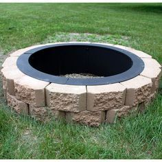 Steel Fire Pit Ring, Fire Ring, Fire Pit Landscaping, Landscaping With Rocks, Landscaping Ideas, Decorative Rock Landscaping, Front House Landscaping, Rustic Landscaping, Diy Fire Pit