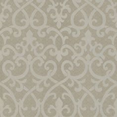 Ironwork Damask Wallpaper normally wall paper isn't my thing... But on an accent wall? Could you say no?
