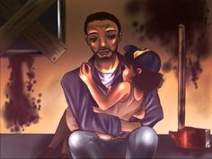 The Walking Dead Lee and Clementine by SuchAChoirBoy.deviantart.com