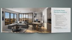 Property brochure design Design Strategy, Brochures, Brochure Design, Group, Table, Furniture, Home Decor, Flyer Design, Decoration Home