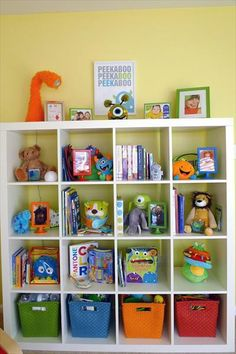 """A """"MONSTER"""" of a Nursery - wish I had room for an organizer like this... and I'd be nervous the monsters would scary baby/toddler"""