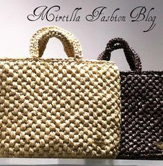 borsa in rafia - pattern free