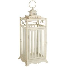 White Jewel Square Lantern - Large | Pier 1 Imports