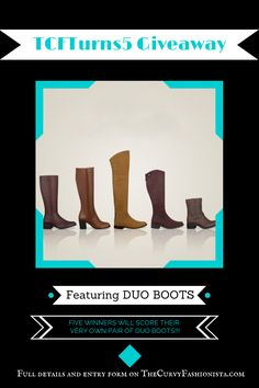 Boot giveaway by the curvy fashionista and duo boots!