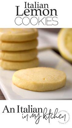 Italian Lemon Cookies, Italian Cookie Recipes, Lemon Dessert Recipes, Easy Cookie Recipes, Sweet Recipes, Baking Recipes, Delicious Desserts, Snack Recipes, Yummy Food