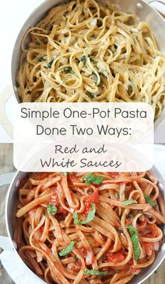 #SeekAdventure with Simple One-Pot Pasta Done Two Ways: Red and White Sauces made with The Seeker Wines by @galmission