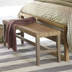 Fiji Bench in Dining Benches | Crate and Barrel