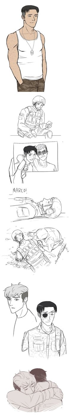 Attack on Titan ~~ Every war has its casualties. Love doesn't have to be one of them. :: Jean x Marco