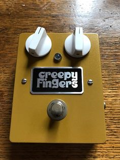Creepy Fingers Fuzz Face inspired two knob version. Brand new condition other than plugging in and testing it out. This was a custom order and rare. Feel free to make an offer.